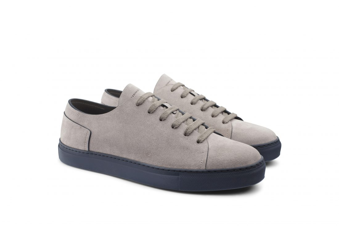 Sneakers Uomo taupe blue Orlando Made in Italy Massimo Melchiorri fcb3d4efece