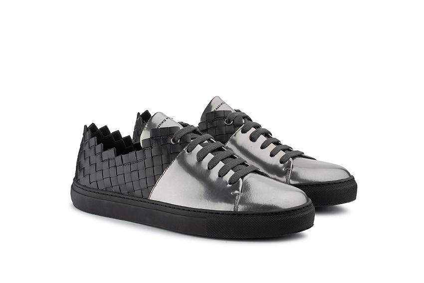 sneakers moorea antracite metallo Massimo Melchiorri
